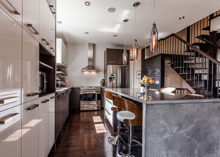 r novation maison contemporaine montr al patrick asselin. Black Bedroom Furniture Sets. Home Design Ideas